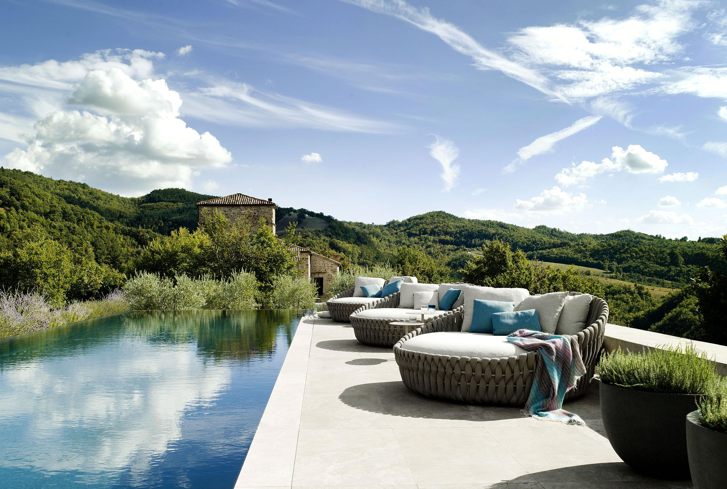 Tosca daybeds by Monica Armani for Tribù