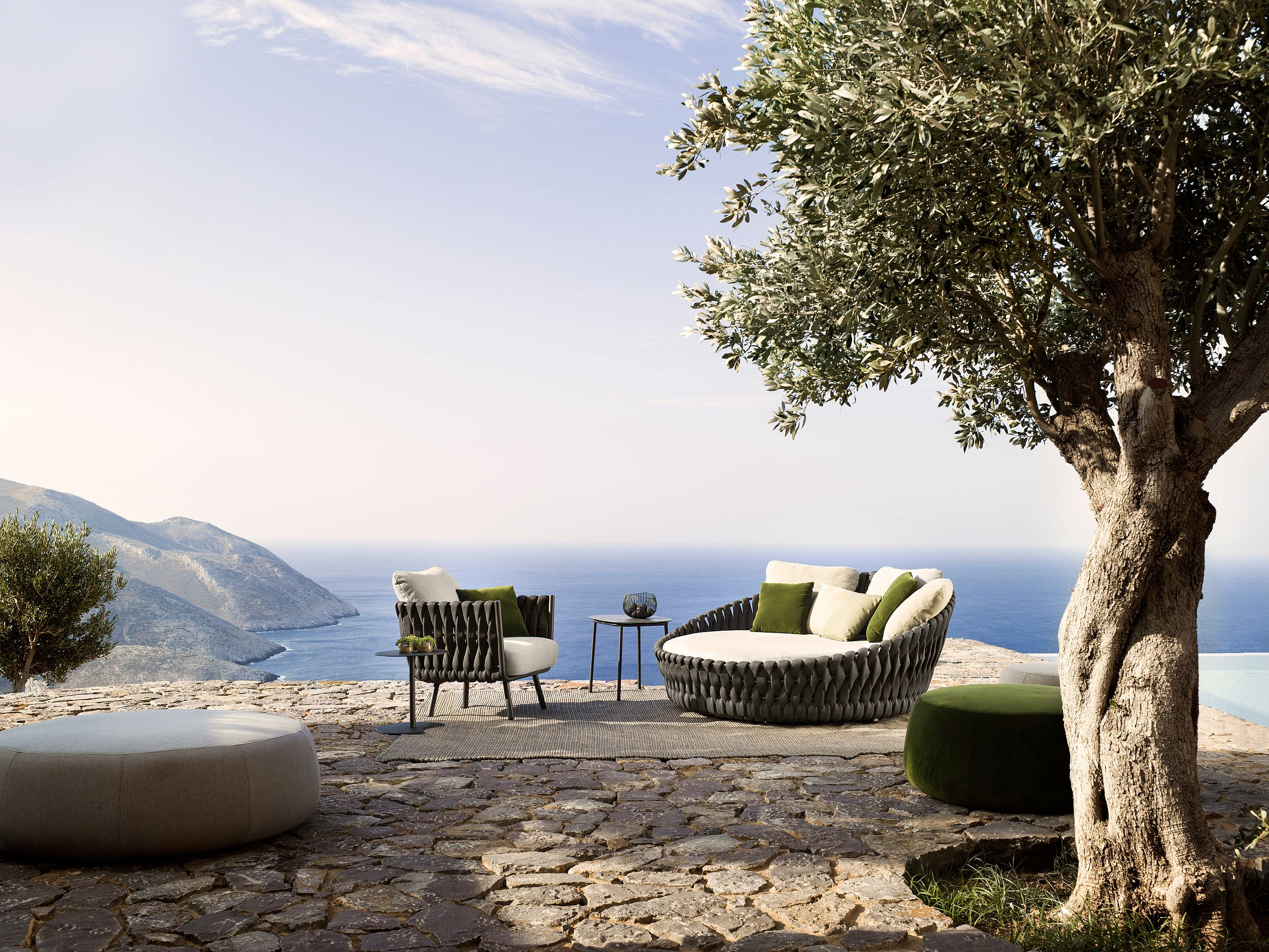 Tosca daybed and armchair by Monica Armani for Tribù