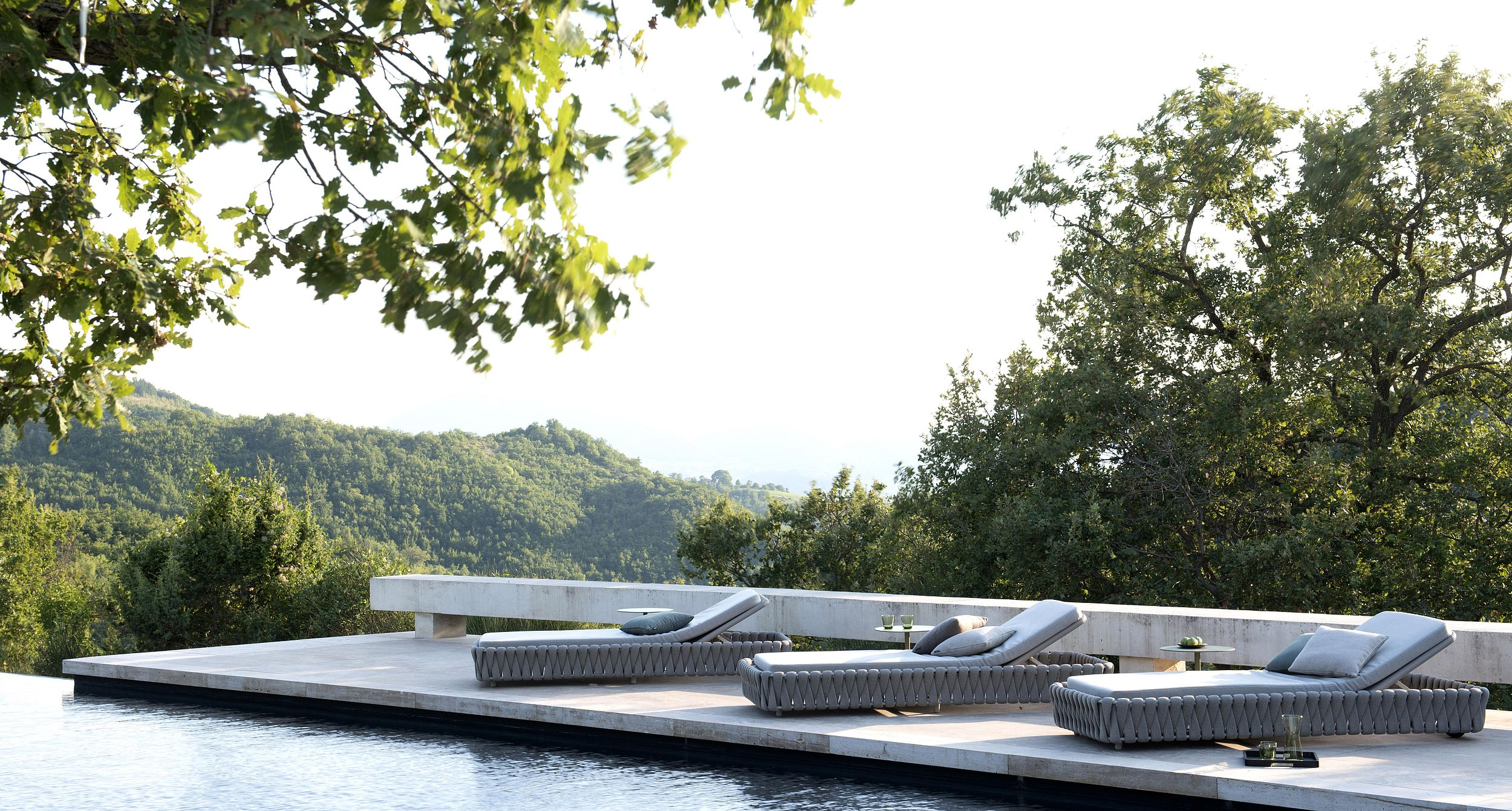 Tosca poolbeds by Monica Armani for Tribù