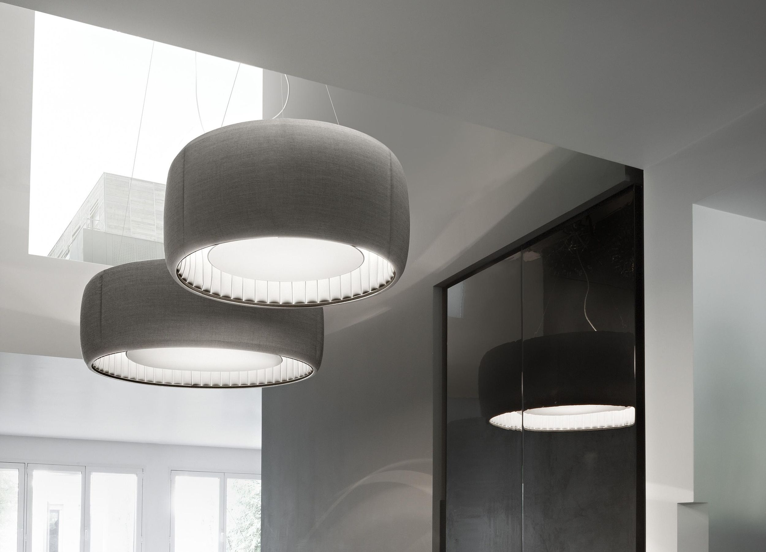 Silenzio lighting and sound absorption system by Monica Armani for Luceplan